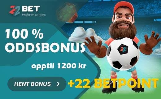 22bet odds