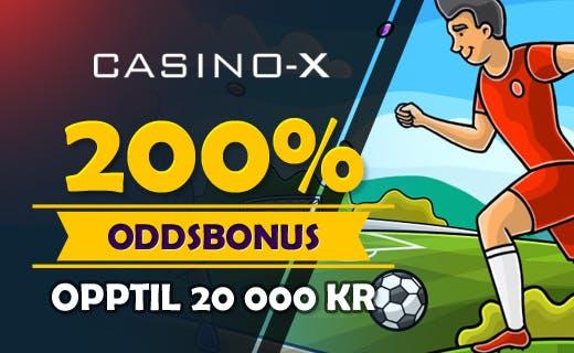 CasinoX Sports norsk oddsbonus