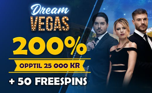 DreamVegas innskuddsbonus