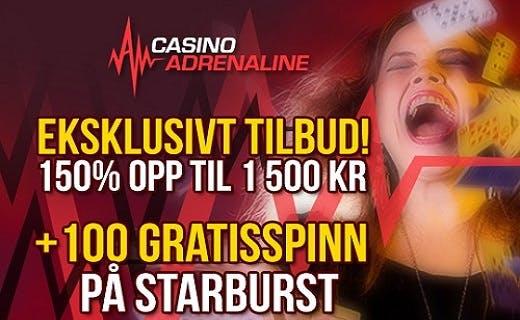 Adrenaline gratis spinn 2016