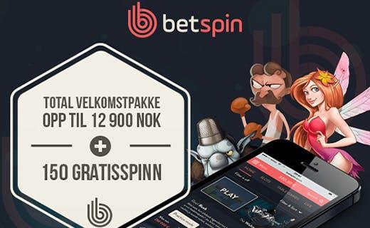 Betspin norsk bonus