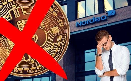 Nordea Bank stenger kryptokontoer etter rettsordre