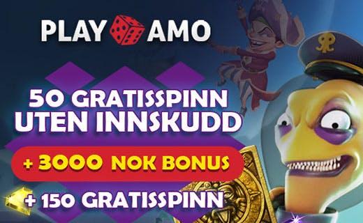 Playamo free spins uten innskudd
