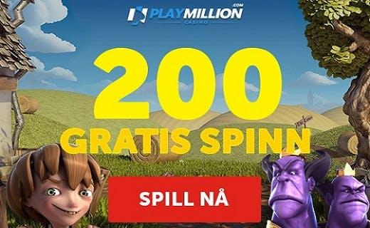 Playmillion norsk casino bonus 2016