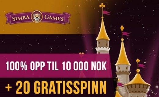 SimbaGames casino bonus 2015