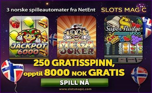 SlotsMagic norsk bonus 2016