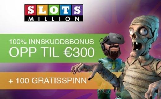 SlotsMillion norske casino online 2016