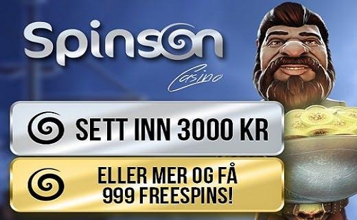 Spinson gratis spinn 2016