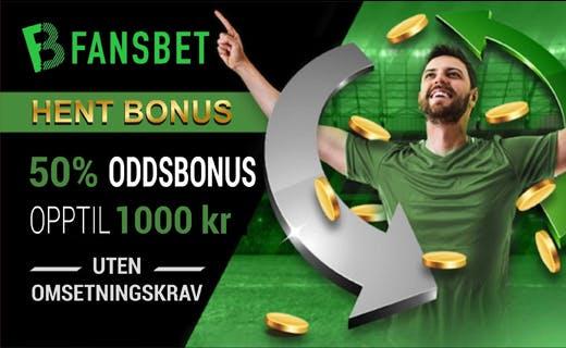 Fansbet norsk oddsbonus