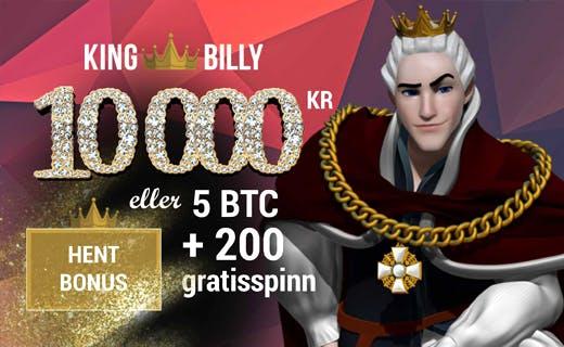 KingBilly innskuddsbonus