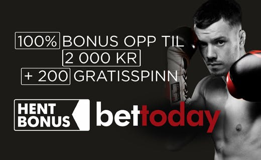 BetToday norsk casino bonus
