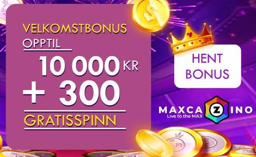 Maxcazino casinobonus