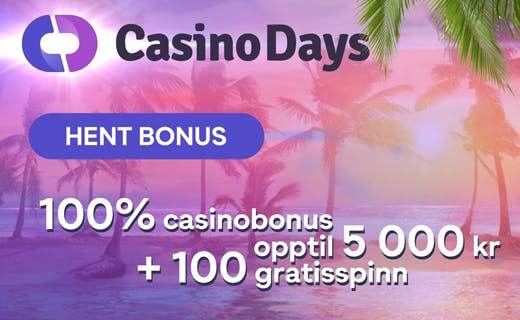 Casinodays casinobonus