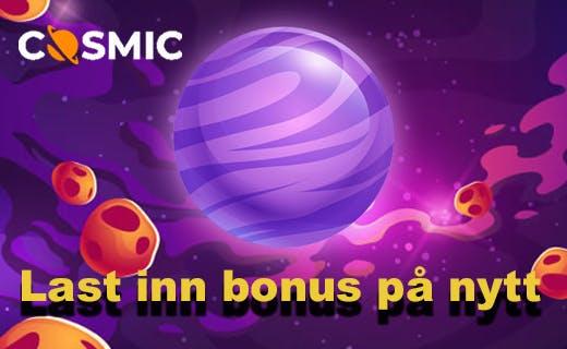 Cosmicslot fa 50 gratisspinn hver eneste uke