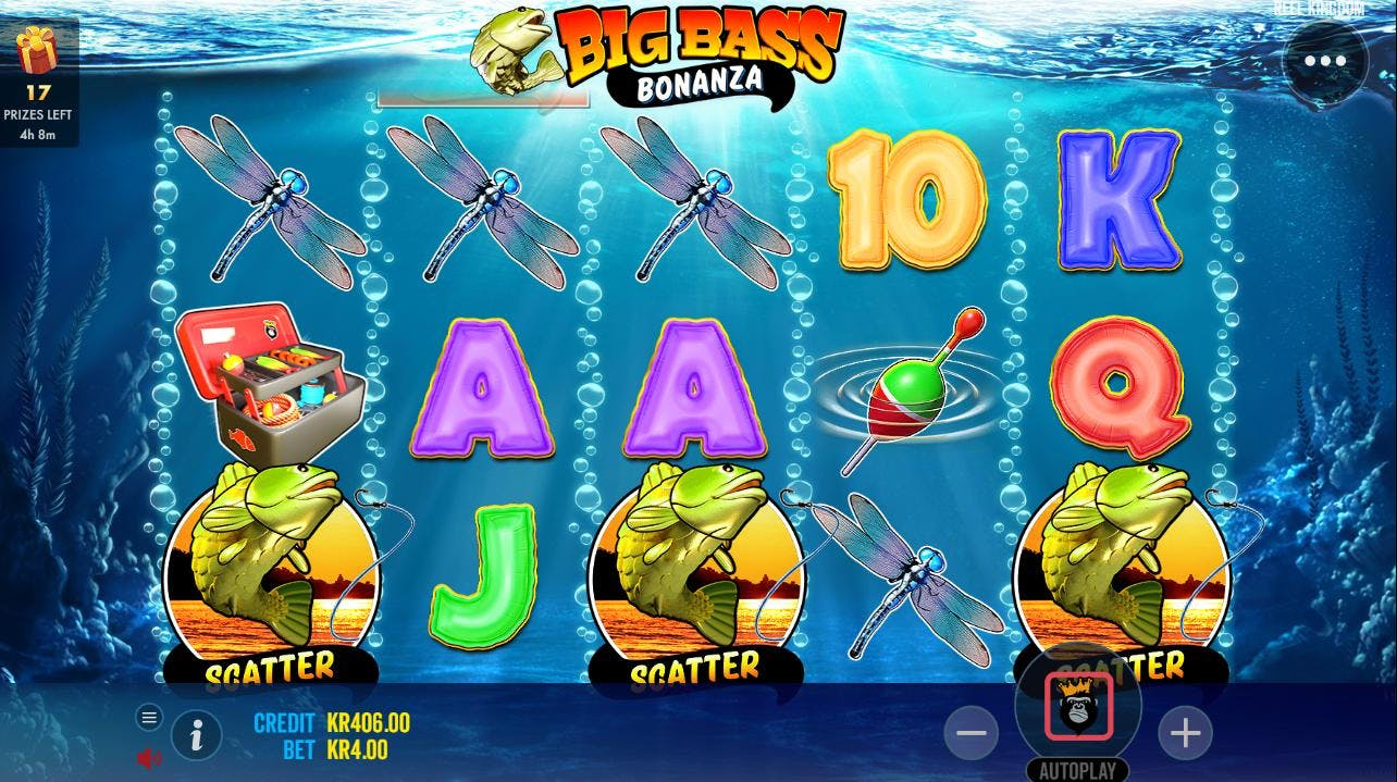3 scattere på Big Bass Bonanza gir gratisspinn!