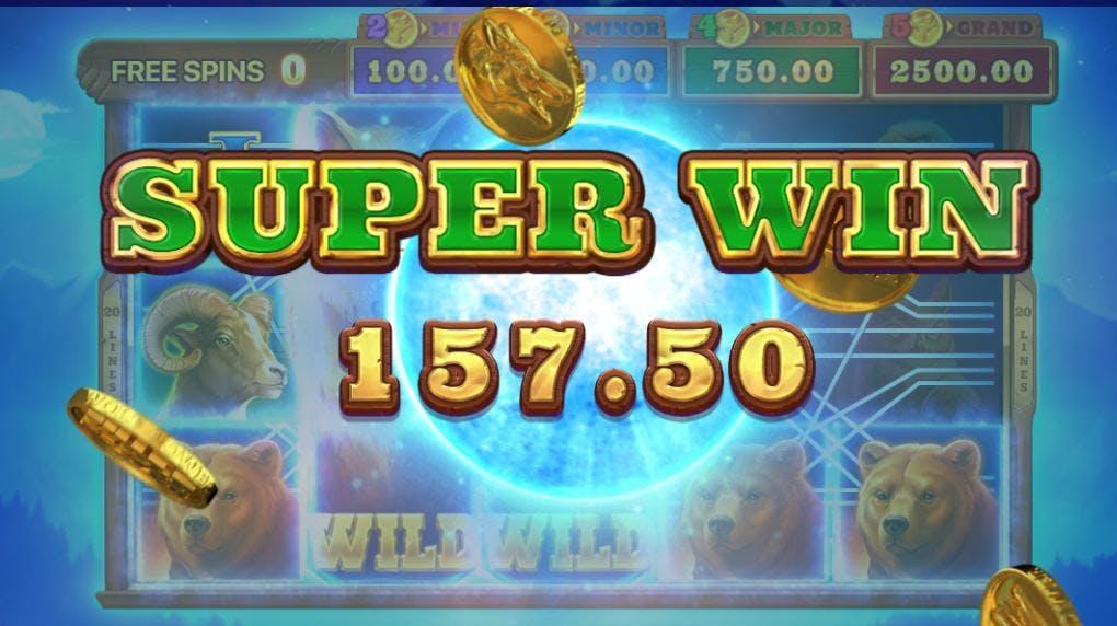 En Super Win på Wolf Power verdt 157 kroner!
