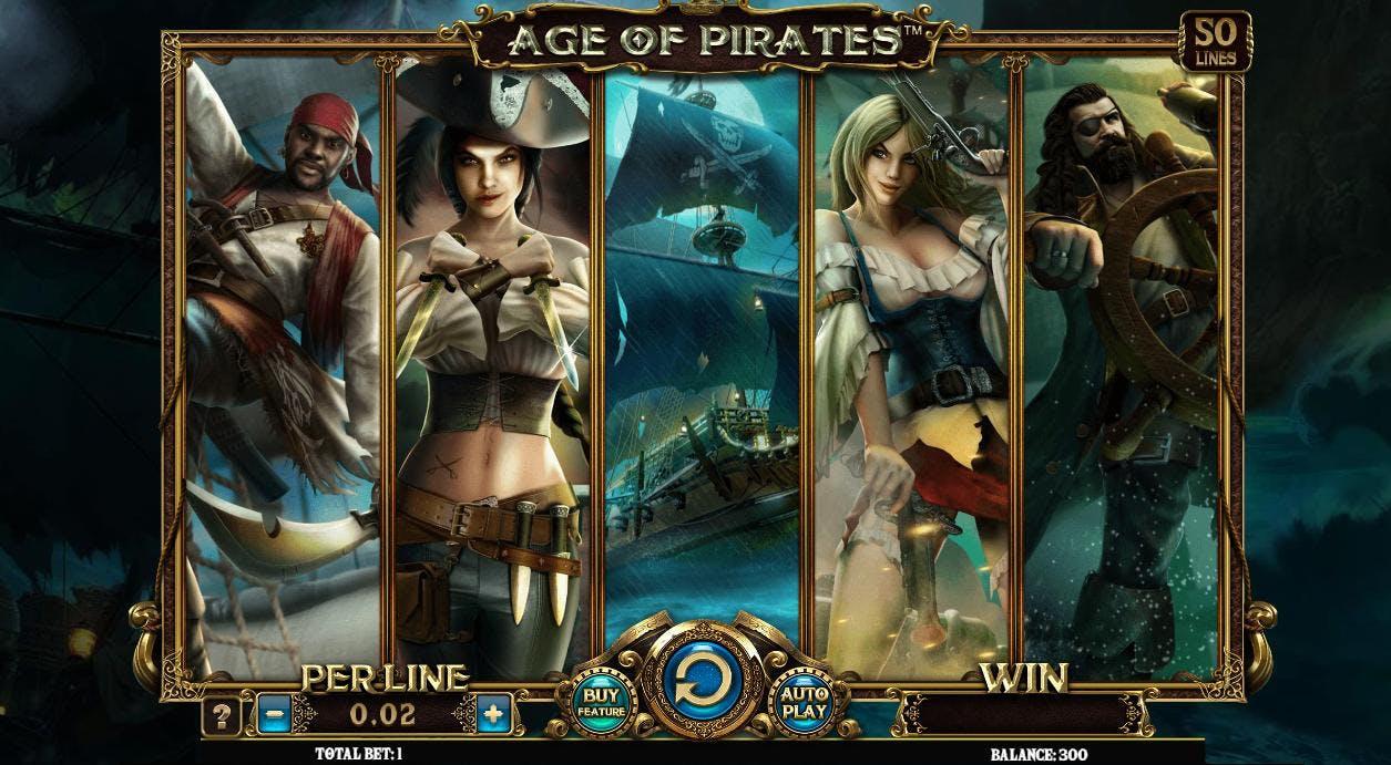 Videoautomaten Age of Pirates fra Spinomenal!